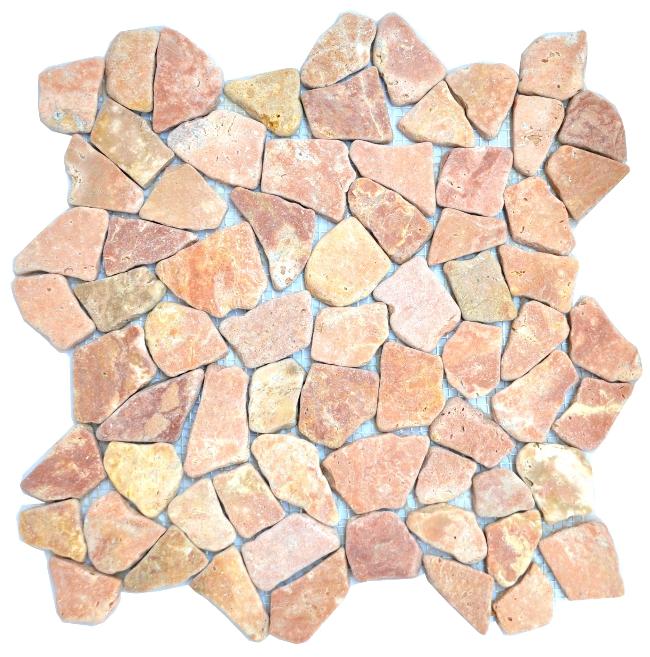 1 netz marmor bruch mosaik fliesen rot naturstein boden wand mosaike bruchfliese ebay. Black Bedroom Furniture Sets. Home Design Ideas